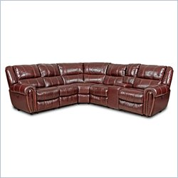 Hooker Furniture Leather 6-Piece Power Sectional in Toro