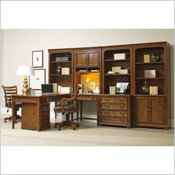 Hooker Furniture Shelton 9-Piece Computer Office Set in Light Cherry