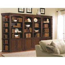 Hooker Furniture Cherry Creek Bookcase Wall Unit in Brown