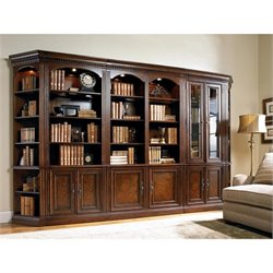 Hooker Furniture European Renaissance II Bookcase Wall Unit in Cherry