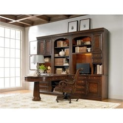 Hooker Furniture European Renaissance II Home Office Wall in Cherry