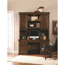 Hooker Furniture Cherry Creek Computer Desk with Hutch in Brown