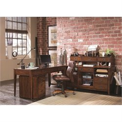 Hooker Furniture Danforth Home Office Credenza in Rich Medium Brown