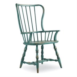 Hooker Furniture Sanctuary Spindle Arm Dining Chair in Blue