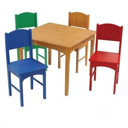KidKraft Nantucket Table and 4 Chair Set in Primary
