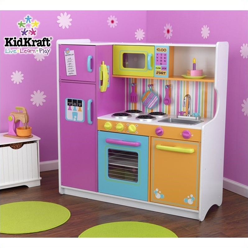 Kidkraft deluxe big bright kids play kitchen 53100 Bright kitchen