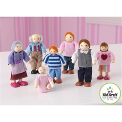 KidKraft Doll House Doll Family of 7 - Caucasian