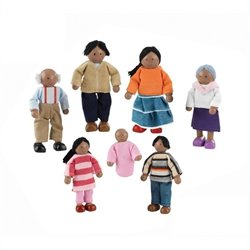 KidKraft Doll House Doll Family of 7 - African American
