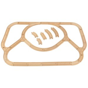 KidKraft Expansion Train Track Pack in Natural