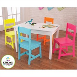 Kidkraft Highlighter Table & 4 Chairs Set