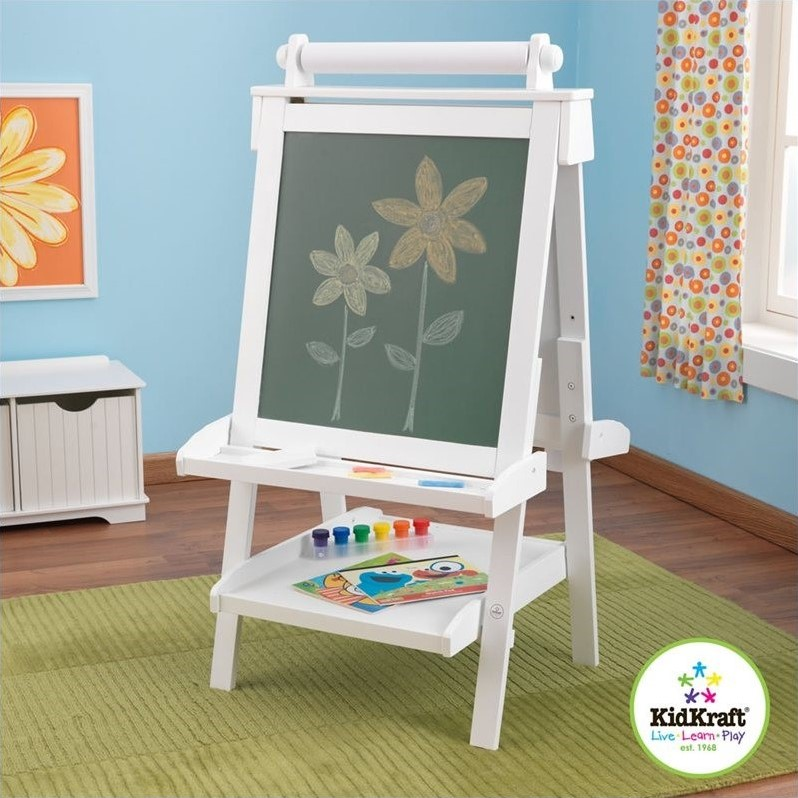 Deluxe Wood Easel in White