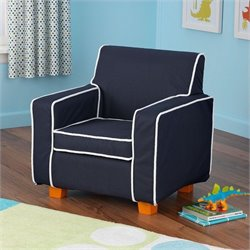 KidKraft Laguna Chair in Navy with slip cover