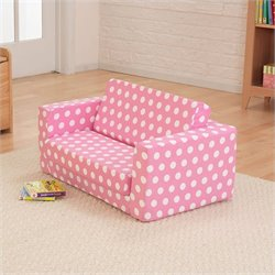 KidKraft Lil'Lounger in Pink with White Polka Dots