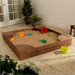 KidKraft Backyard Sandbox in Espresso