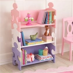 KidKraft Puzzle Book Shelf in Pastel