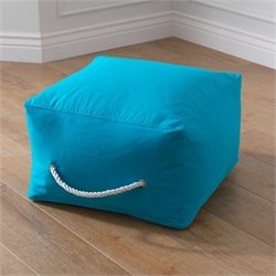 KidKraft Square Pouf in Turquoise