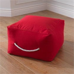 KidKraft Square Pouf in Red