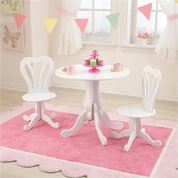KidKraft Parlor Table and 2 Chair Set in White