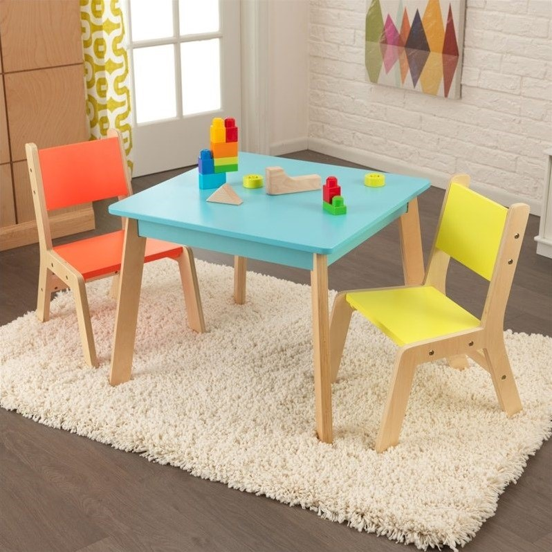 KidKraft Modern Table And 2 Chair Set In Multi Color 26322