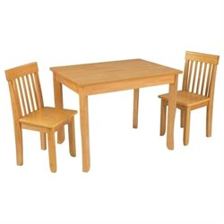 KidKraft Avalon Table II and 2 Chairs Set in Natural