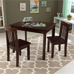 KidKraft Avalon Table II and 2 Chairs Set in Espresso