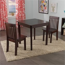 KidKraft Avalon Table and 2 Chairs Set in Espresso