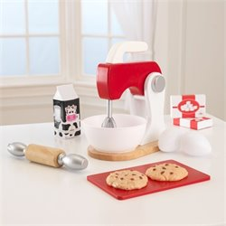 KidKraft New Baking Set in Red and White