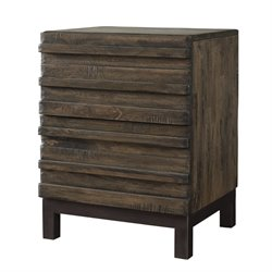 Modus Delfina Solid Wood 2 Drawer Nightstand in Sahara