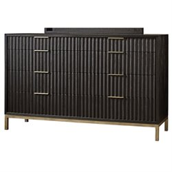 Modus Kentfield 8 Drawer Dresser in Transparent Black Mahogany