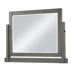Modus Austin Solid Wood Tilt Mirror in Rustic Gray