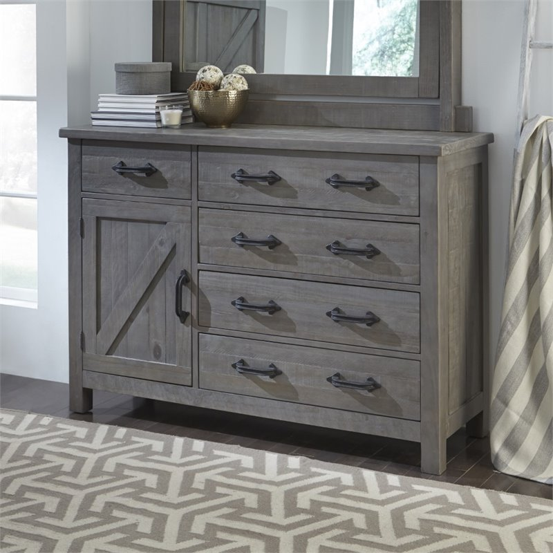 floor decor austin.htm modus austin 5 drawer solid wood dresser in rustic gray 9x1394  modus austin 5 drawer solid wood