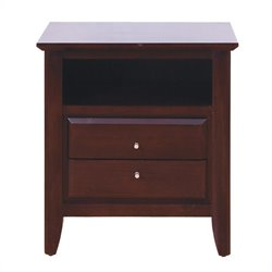 Modus City II 2 Drawer Nightstand in Coco