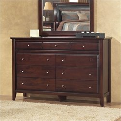 Modus City II 9 Drawer Double Dresser in Coco
