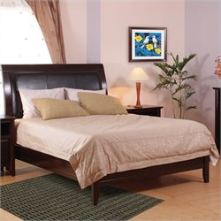 Modus City II Low Profile Bed Complete 5 Piece Bedroom Set in Coco