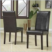 Modus Urban Seating Chocolate Leatherette Parson Chairs in Chocolate Finish (Set of two)