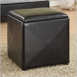 Modus Milano Storage Cube in Black Leatherette