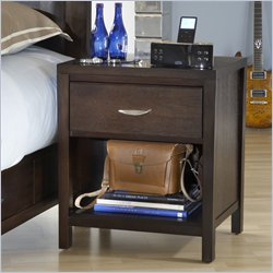 Modus Urban Loft One Drawer Nightstand in Espresso