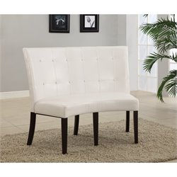 Modus Bossa Dining Height Banquette in White Leatherette