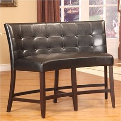 Modus Bossa Counter Height Banquette in Black Leatherette