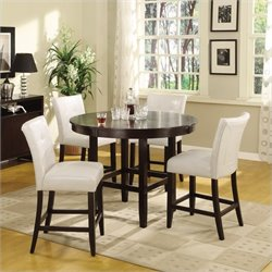 Modus Bossa 5 Piece 48 Inch Round Counter Height Dining Table Set