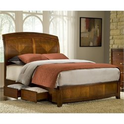Modus Brighton Wood Storage Bed in Cinnamon - Queen