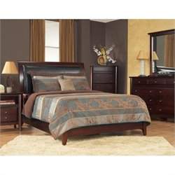 Modus City II Faux Leather Storage Bed in Coco - Queen