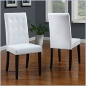 Modus Urban Seating Tufted Parsons Chairs in White Leatherette (pair)