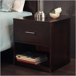 Modus Modera Two Drawer Nightstand in Chocolate Brown