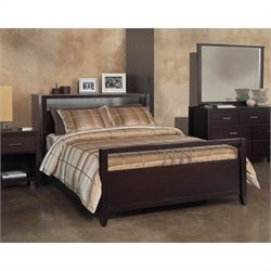 Modus Furniture Nevis 4 Piece Platform Storage Bedroom in Espresso