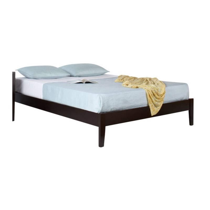 modus furniture nevis simple platform bed in espresso