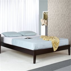 Modus Furniture Nevis Simple Platform Bed in Espresso - Twin