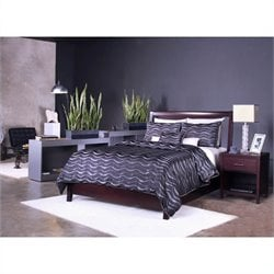 Modus Furniture Nevis Low Profile Storage Bed in Espresso 5 Piece Bedroom Set