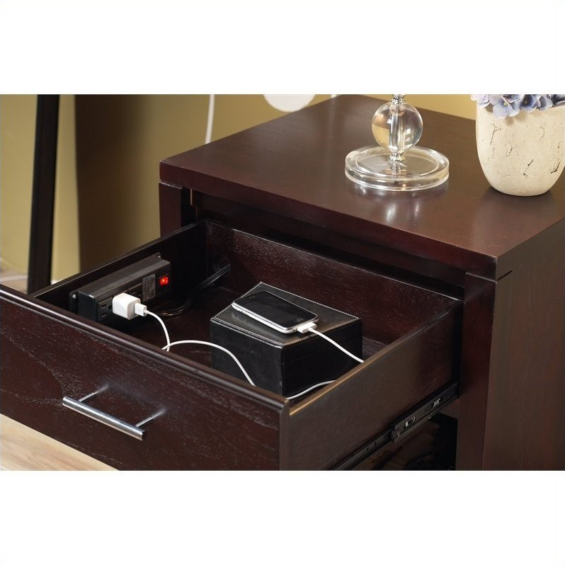 Charmant Modus Nevis Charging Station Nightstand In Espresso