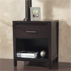 Modus Nevis Charging Station Nightstand in Espresso